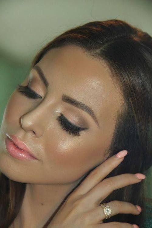 Neutral Wedding Makeup : Natural makeup and neutral, oval nails. Wedding makeup ...