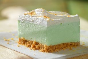'Key Lime' Cloud Squares Recipe - Kraft Recipes Could be made with other flavors too like orange, lemon, pineapple, or any other Jello flavor and juice flavor match. :)