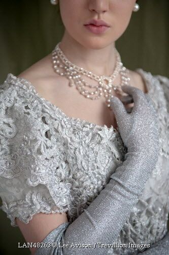 Trevillion Images - historical-woman-with-glove-and-pearls