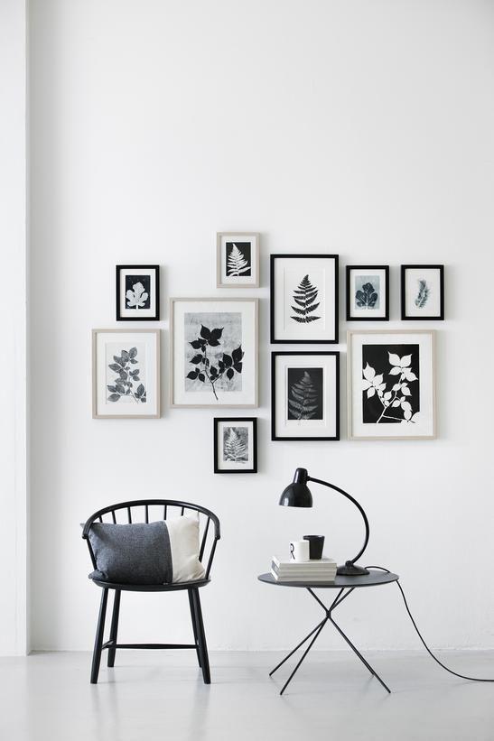 Leaf prints arrangement by Pernille Møller Folcarelli (via Bloglovin.com )