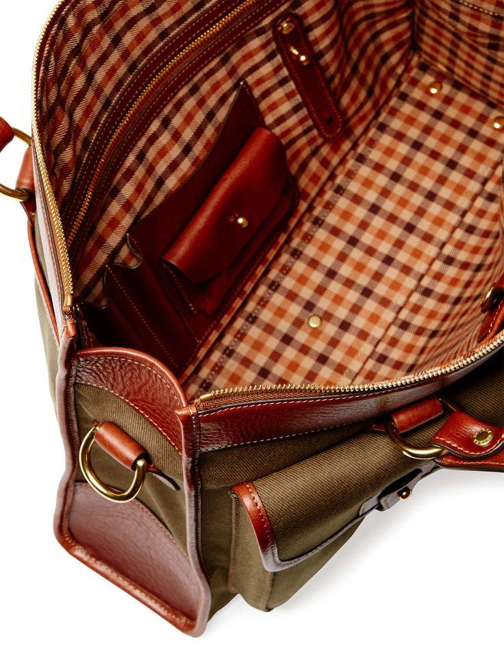Ghurka — Examiner Canvas & Leather Briefcase