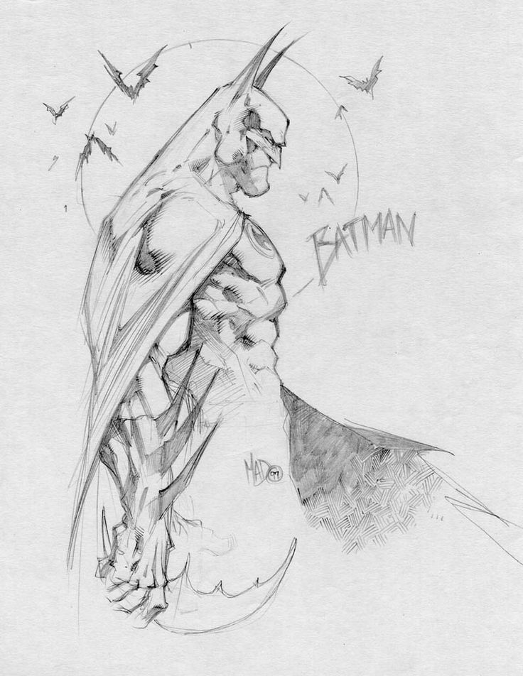 Batman sketch by Joe Madureira