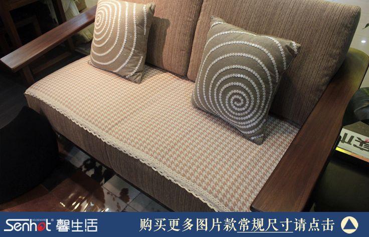 Надежда жизнь на заказ подушки дивана ткань дивана подушки толщиной тканый хлопок полотенце диван покрытие ткань может быть настроена - глобальной станции Taobao
