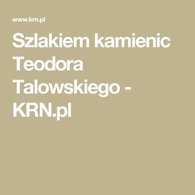 Szlakiem kamienic Teodora Talowskiego - KRN.pl