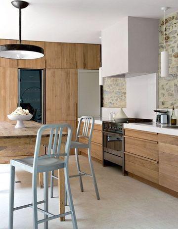 17 meilleures id es propos de mur de cuisine de pierre - Cuisine chene clair contemporaine ...