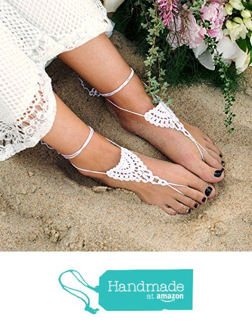 Barefoot Sandals Lace Beach Crochet Foot Jewelry from Modern Crochet Club http://www.amazon.com/dp/B015XZTWUU/ref=hnd_sw_r_pi_dp_CIolwb1CRZ538 #handmadeatamazon