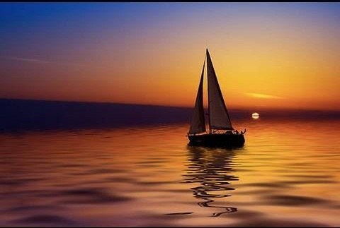 """In this video, the viewer is shown how to do """"sail and sun"""" airbrushed nail art. His inspiration for this nail art was a picture of a sunset he saw. The nails start off with a base coat of white, and then get layered on with red, orange, and yellow. He then proceeds to add in the details, including the sun, water, and even waves. After watching this video, the viewer will not only have a better understanding of how airbrushed nail art is done, but also how to do quality airbrush nail art…"""