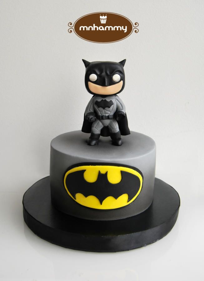 funko pop batman simple cake - Cake by Mnhammy by Sofia Salvador