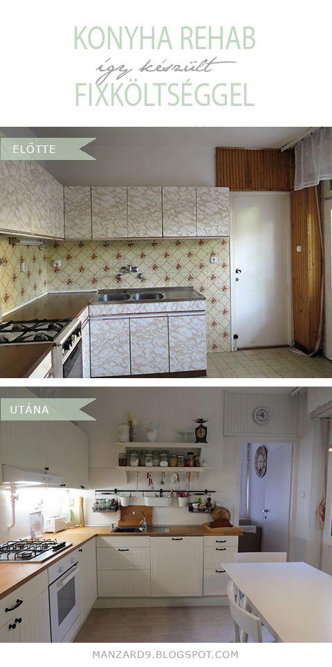 Budget-Friendly Kitchen Makeover I takarékos konyha felújítás - így készült I Manzard9
