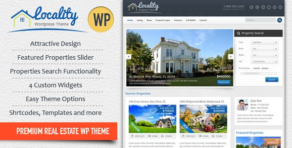 Locality - Real Estate WordPress Theme - ThemeForest Item for Sale