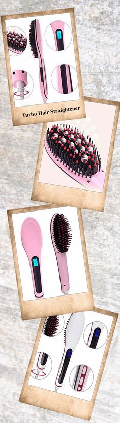 Say goodbye to frizz and hello to a fabulous new you with the revolutionary Detangling Hair Straightener Brush. This tool multitasks to detangle hair and straighten it simultaneously. The smooth ceramic plates heat up quickly and provide constant heat as they glide through your locks. With a digital LCD display and a swivel cord that never tangles, this is one tool you don't want to live without. Finally, getting the straight and sleek look you desire is as easy as brushing your hair!