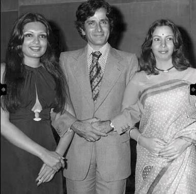 Shashi Kapoor with Parveen Babi and Shobana Azmi