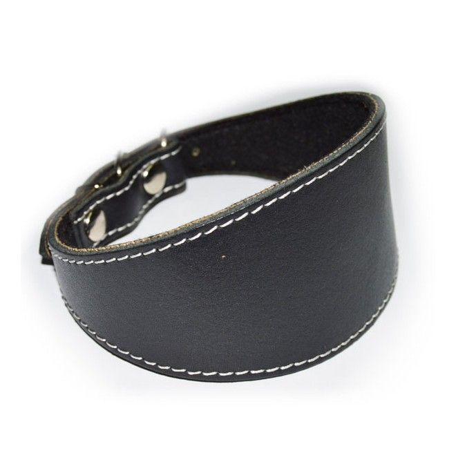 Collar para Whippet pequeño negro liso