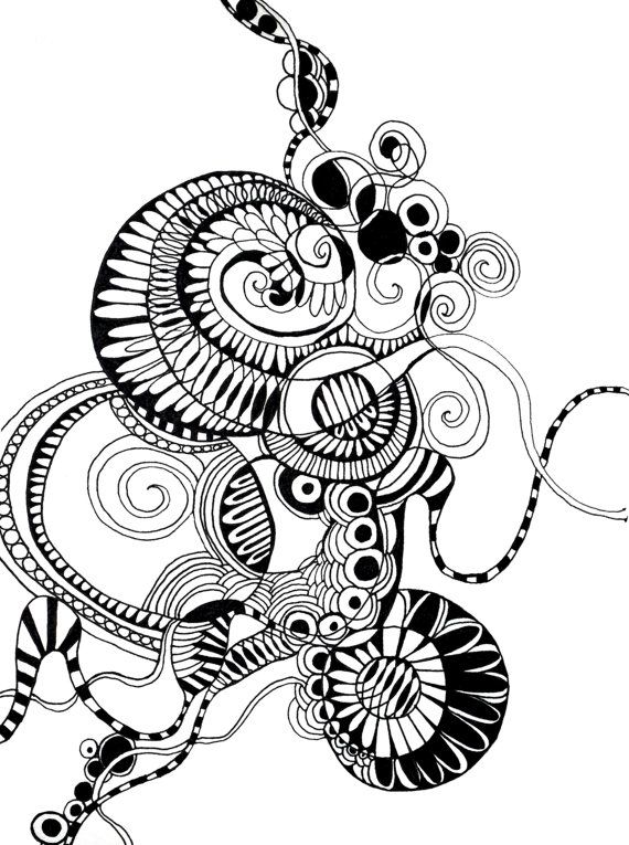 Line Art Zendoodle : Best abstract coloring for adults art pages images on