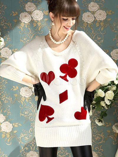[30,13€] Fabuleuse robe pull mode blanche tricotée effet encolure dégagée manches chauve-souris