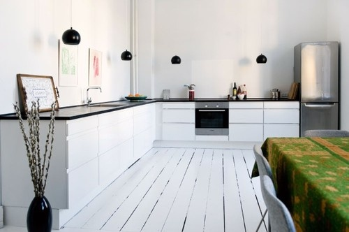 grönt kök ikea : Vitt kök och vita golv Idéer för hemmet ...