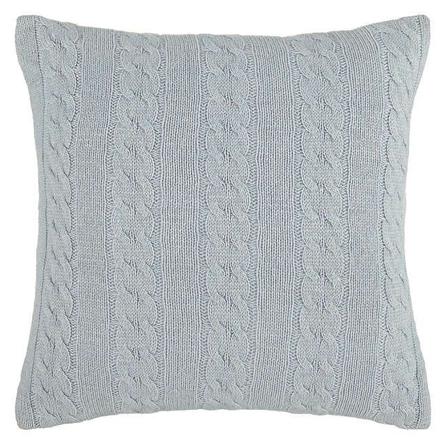 BuyJohn Lewis Croft Collection Cashmere Blend Cable Knit Cushion, Slate £35 Online at johnlewis.com