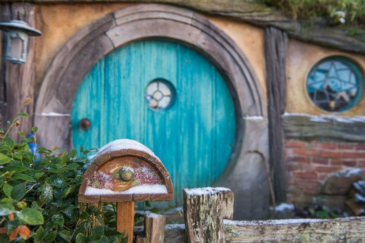 It S Winter In The Shire Now In 2019 Hobbit Door Hobbit