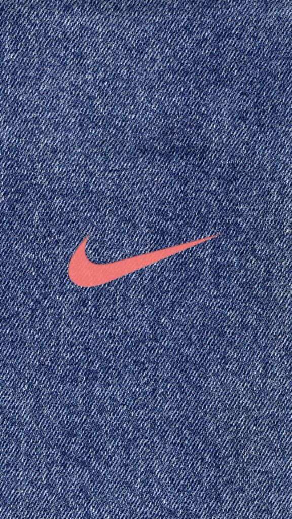 NIKE Logo Denim iPhone Wallpaper