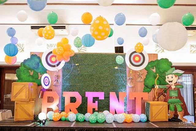 Brent's Little Archer Themed Party – Stage Area