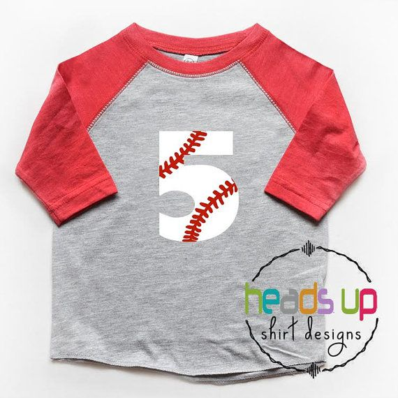Cinq chemise Baseball Raglan garçon/fille par Headsupshirtdesigns