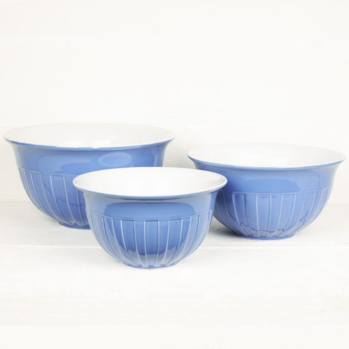 Blue Mixing Bowls