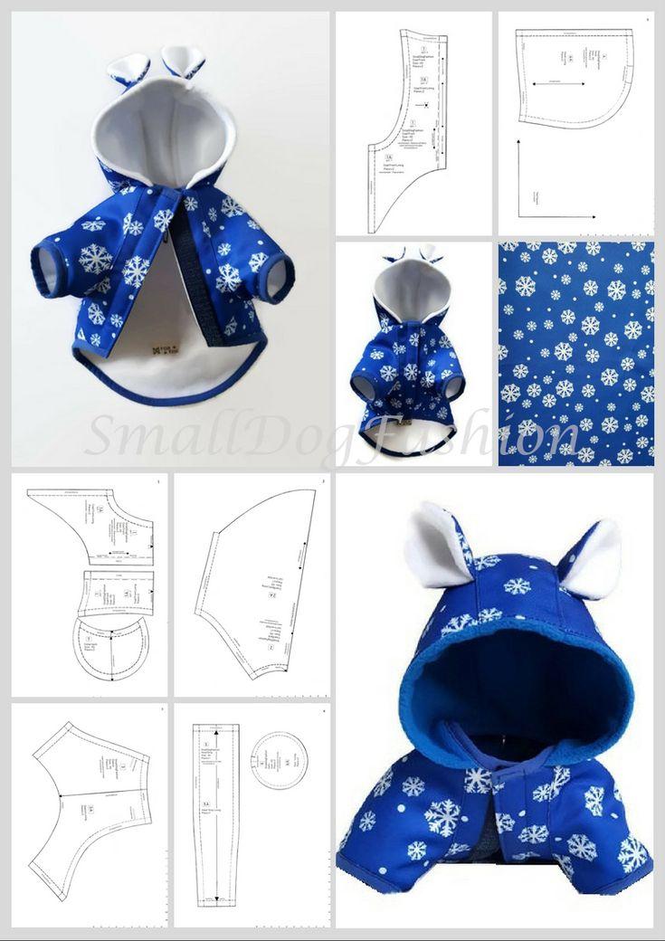 Dog Coat pattern Dog clothes patterns for sewing Small dog clothes pattern Dog J…