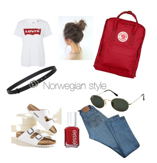 """Norwegian style"" by kaoutar-rayour on Polyvore featuring Levi's, Fjällräven, Birkenstock, Ray-Ban, Essie, Summer, scandinavian, Levis, oslo and fjellraven"