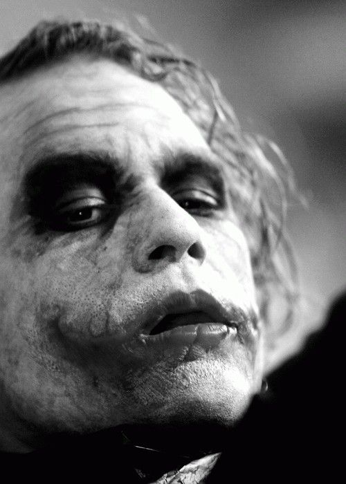 Honestly, Heath Ledger as The Joker is what made me fall in love with cinema and Hollywood. It was amazing. I've never seen anything even comparable to his acting in that movie.