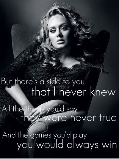 Adele - Set Fire To The Rain Quote | Flickr - Photo Sharing!