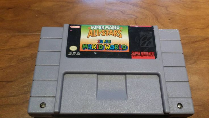 Super mario world / Super Mario all stars - super Mario bros 1 2 3 & lost worlds!  Super Nintendo snes system console game - pinned by pin4etsy.com
