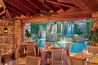 Aruba Restaurants - Ruinas del Mar    At the Hyatt, Aruba MOST ROMANTIC EVER, black swans, oceanfront, castle feel.  Honeymoon