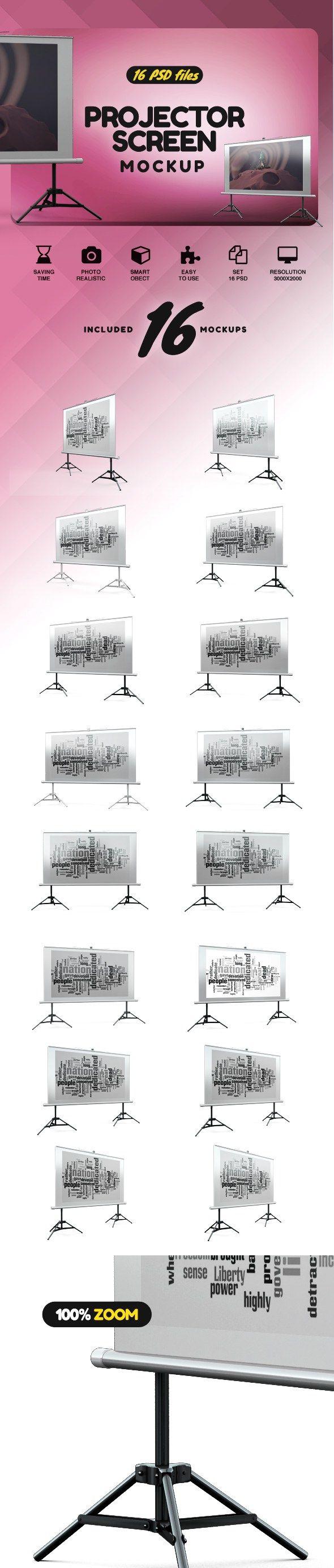 Projector Screen Mockup