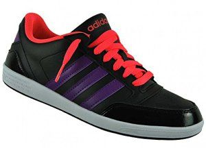 adidas Neo VLNEO HOOPS LO W Chaussures Sneakers Mode Femme Noir Rose Violet adidas Neo T:38