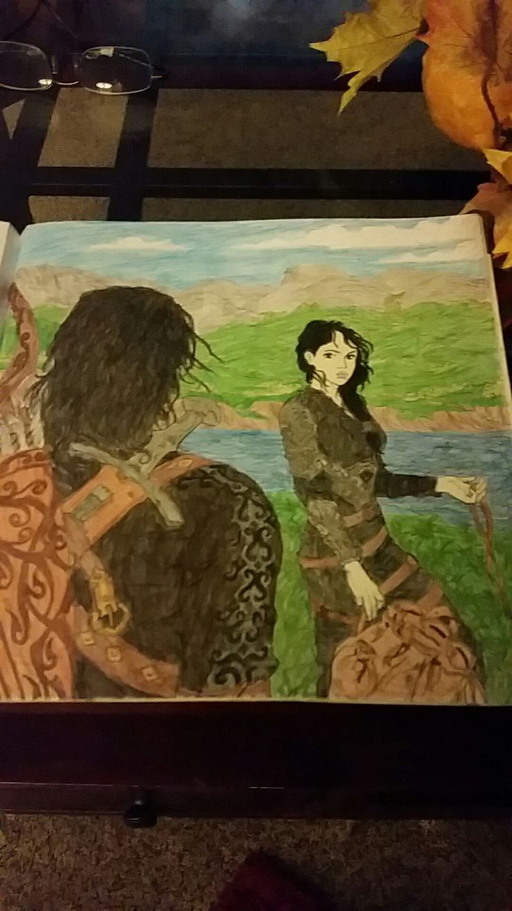 Elide And Lorcan, Colored By Lauren Moore · Assassin's Bladeadult  Coloringcoloring Bookscolouringthrone