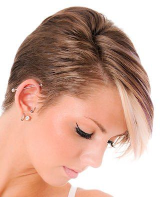 Neat with highlighted bangs.