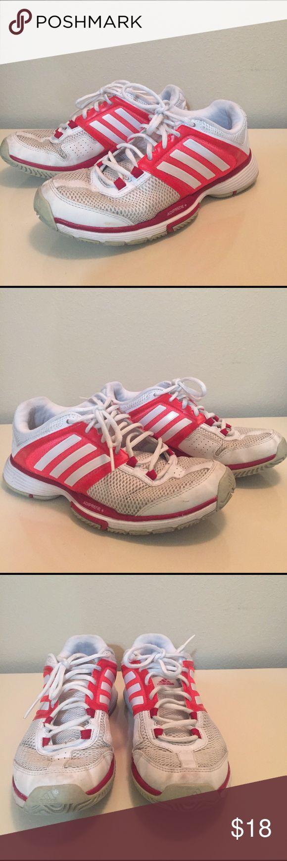 Adidas Adiprene Adidas Adiprene tennis shoes #9. White/red. Not like new but still useful. Adidas Shoes Athletic Shoes