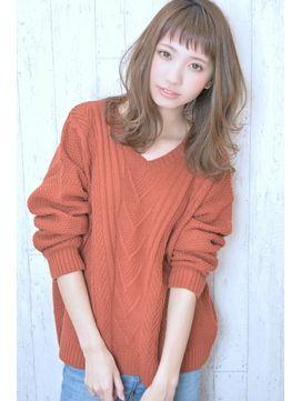 Saphir☆ハネ感ふんわりシースルーバング - 24時間いつでもWEB予約OK!ヘアスタイル10万点以上掲載!お気に入りの髪型、人気のヘアスタイルを探すならKirei Style[キレイスタイル]で。