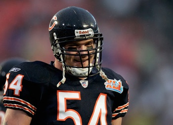 Donald Miralle/Getty Images  Since being chosen with the ninth-overall selection of the 2000 NFL Draft out of the University of New Mexico, ferocious linebacker Brian Urlacher has racked up over 1,000 tackles, over 40 sacks, eight Pro Bowls and a Defensive Player of the Year Award.