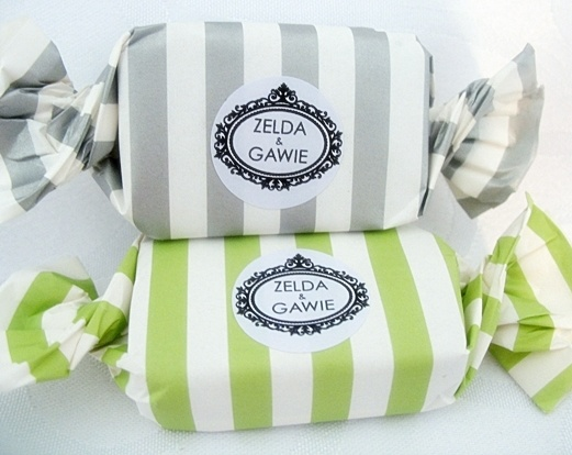 Green & Silver Small Toffee With Personalised Label