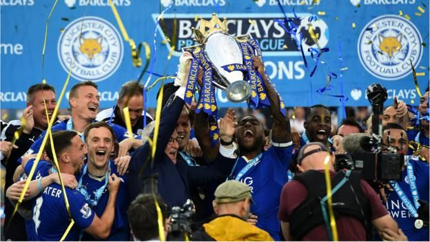 Leicester City: Party time as Foxes crowned Premier League champions - BBC Sport