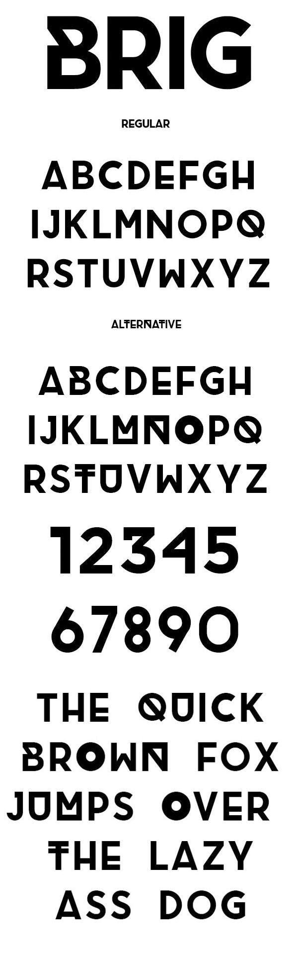 Web design freebies, BRIG - Free Font