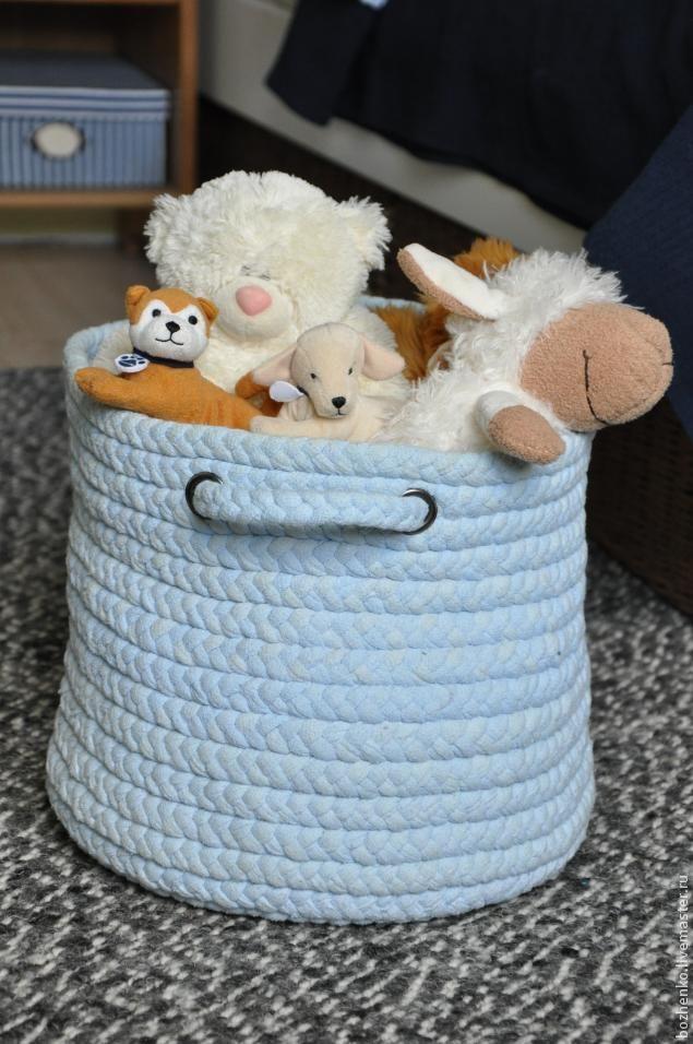 Создаем корзину для игрушек и не только - Ярмарка Мастеров - ручная работа, handmade