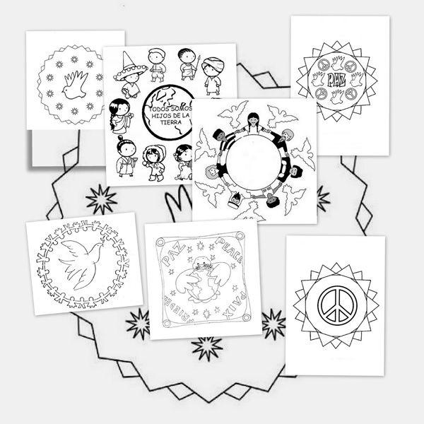 http://www.escuelaenlanube.com/mandalas-dia-de-la-paz/ Recursos educativos: Mandalas de la paz - Escuela en la nube