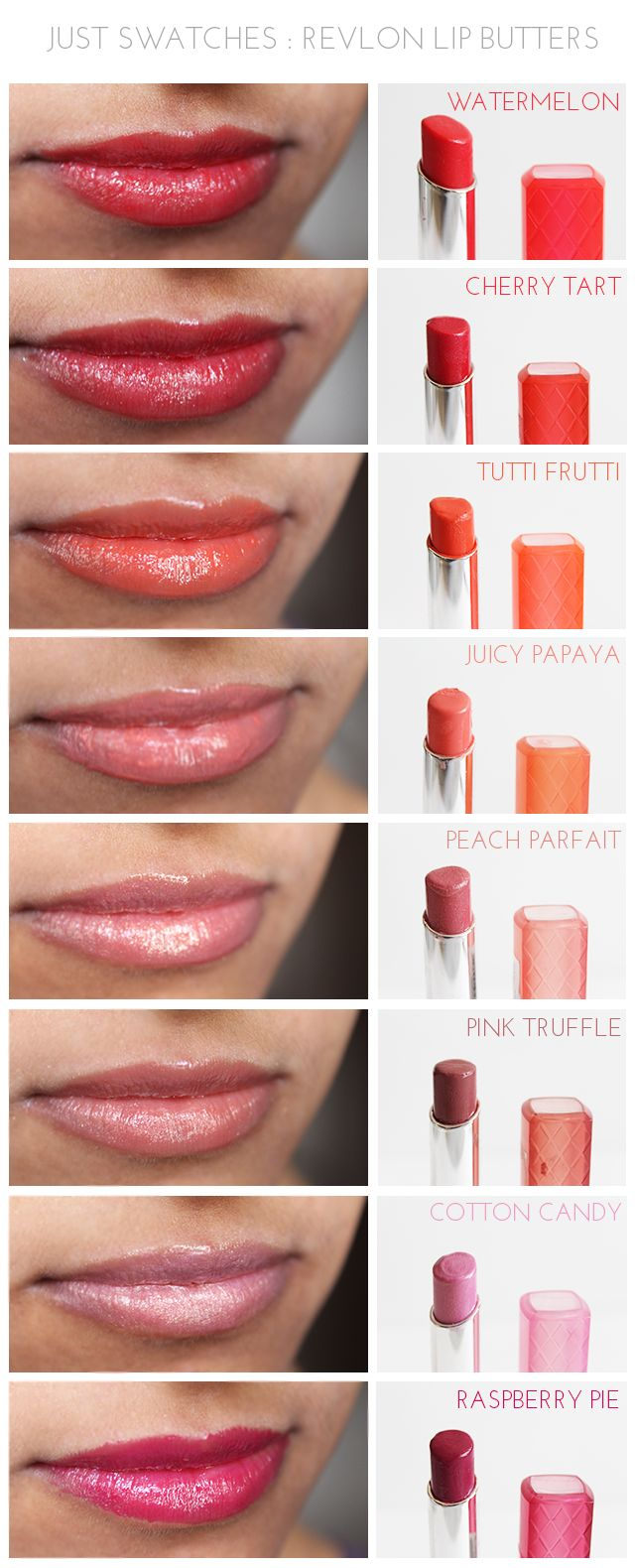 Just Swatches - Revlon Lip Butters