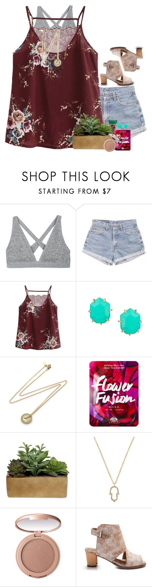 """she acts like summer & walks like rain"" by livnewell ❤ liked on Polyvore featuring T By Alexander Wang, Levi's, Kendra Scott, Erica Weiner, Threshold, Casa Reale, tarte and Alden"