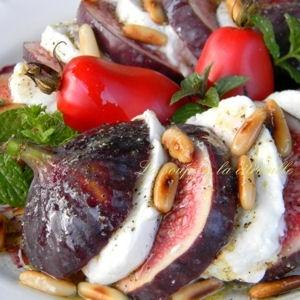 salade figues-mozzarella