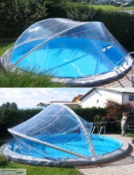 Stunning Cabrio Dome PLUS f r Rundbecken bis m m