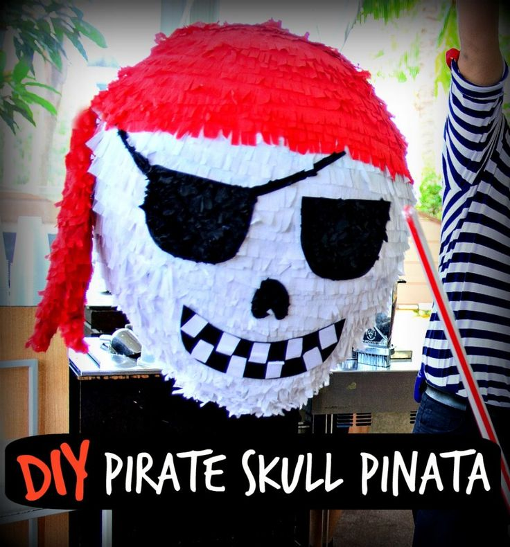 How to make a Pirate Skull Party Pinata