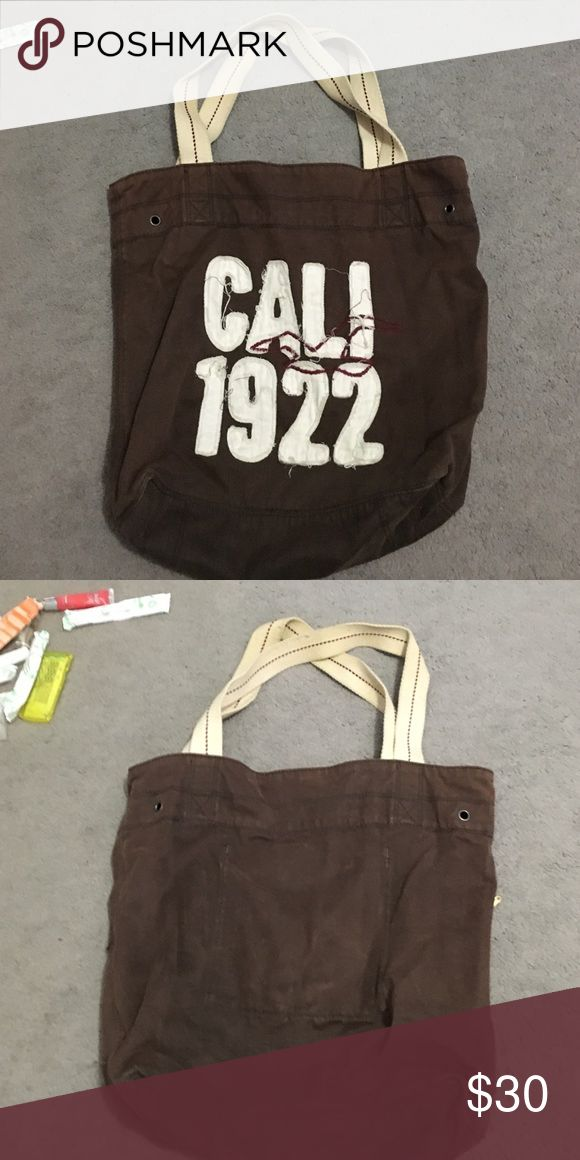 Hollister tote bag Brown hollister tote bag Hollister Bags Totes